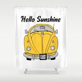 Hello Sunshine Bug  Shower Curtain