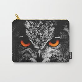 Owl Fire Eyes Carry-All Pouch