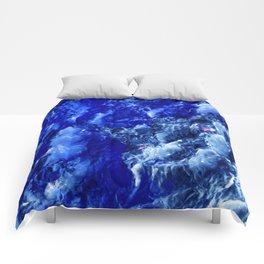 Abstración Océanica Azul Comforters