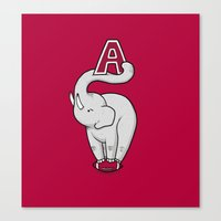 alabama Canvas Prints featuring Alabama by Randyotter