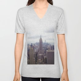 Bugs and Raindrops, Manhattan Skyline Unisex V-Neck