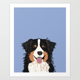Australian Shepherd cute pastel aussie owner gifts must haves for dog person customized pet portrait Art Print