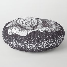 Pointed Rose Floor Pillow