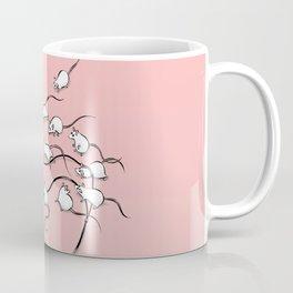 Mouses (pink background) Coffee Mug