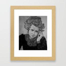 Marie Curie, Original Badass Framed Art Print