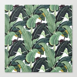 banana leaf pattern Canvas Print