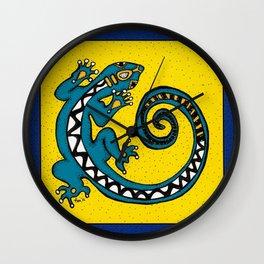 Tribal Gecko Wall Clock