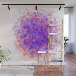 gathering crystals, red and blue Wall Mural