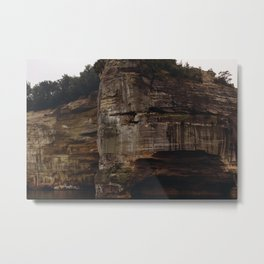 Pictured Rocks IV Metal Print