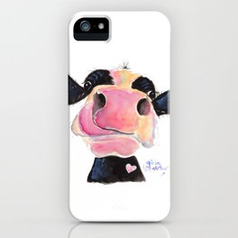 Nosey Cow ' JAMMIE JESSIE ' by Shirley MacArthur iPhone Case