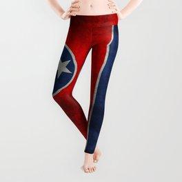 Tennessee State flag, Vintage version Leggings
