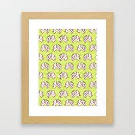 Elephant field Framed Art Print