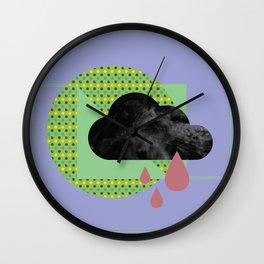 polka rain dot Wall Clock