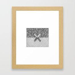Halves Framed Art Print