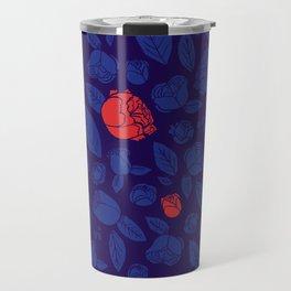 Briar Rose Navy Travel Mug