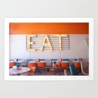 eat Art Prints featuring EAT! by Jermzlee
