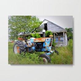 Vintage Tractor  Metal Print