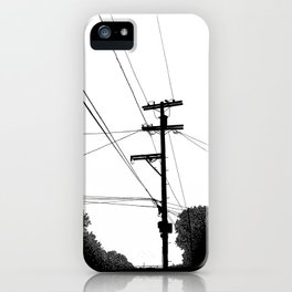 Power Lines at the bluff iPhone Case