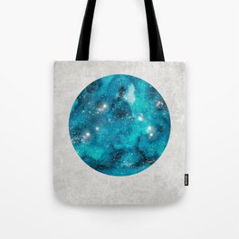 Aries zodiac constellation on the light background Tote Bag