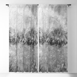 Inlet, black and white Blackout Curtain