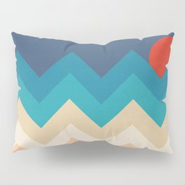 Vintage 70s Adventure on the Mountains Pillow Sham