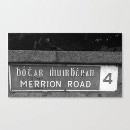 Merrion Black White Canvas Print