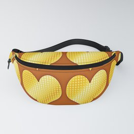 Golden hearts-Brown Fanny Pack
