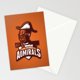 Mon Calamari Admirals on Orange Stationery Cards