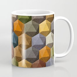icosahedron multicolor Coffee Mug