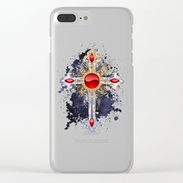 Gothic Cross Clear iPhone Case