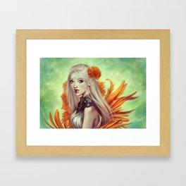 Miss Flowergarden Framed Art Print