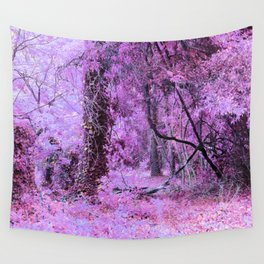 Fantasy Tree Landscape: Orchid Pink Purple Wall Tapestry