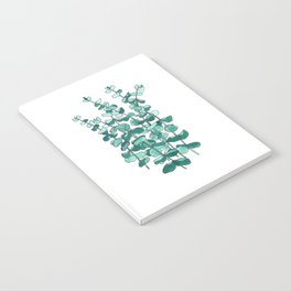 Eucalyptus Branch Watercolor Painting Notebook