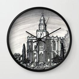 St George Utah Temple Wall Clock
