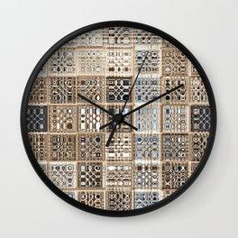 Slate Tan Sari Wall Clock