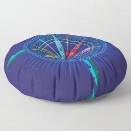 Kayak Compass Rose Floor Pillow