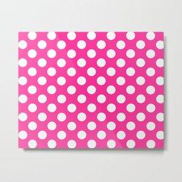 Lunares rosa Metal Print