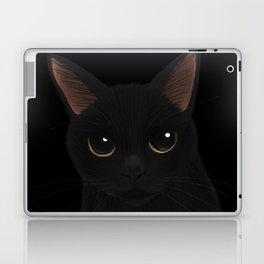 Black cat in black Laptop & iPad Skin