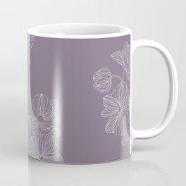 Purple Floral  Coffee Mug