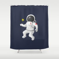 spaceman Shower Curtains featuring The Spaceman  by Scientee