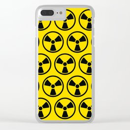 Radioactive Pattern Clear iPhone Case