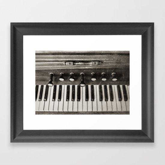 At the Keys Framed Art Print