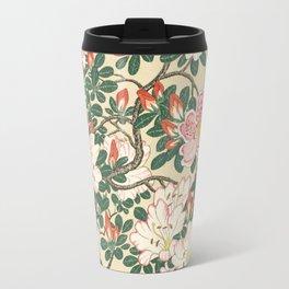 Vintage Azalea Japanese Woodcut Travel Mug