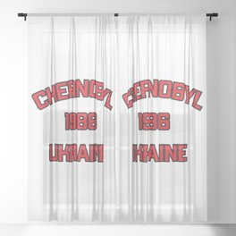 Chernobyl, Ukraine, 1986 Sheer Curtain