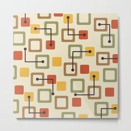 Midcentury 1950s Tiles & Squares Autumn Metal Print