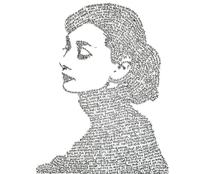 Audrey Hepburn Metal Travel Mug