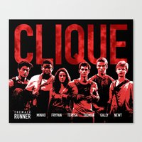 maze runner Canvas Prints featuring The Maze Runner Clique  by wecallthemblades