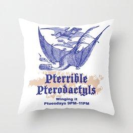 Pterrible Pterodactyls Throw Pillow