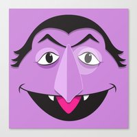 sesame street Canvas Prints featuring Sesame Street Count by Jconner