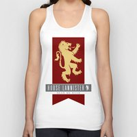 lannister Tank Tops featuring House Lannister Sigil by P3RF3KT